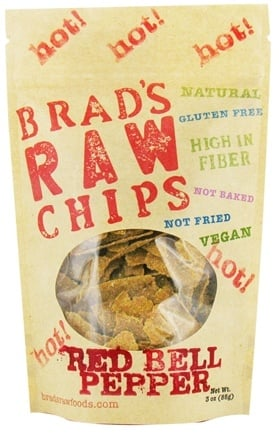 DROPPED: Brad's Raw Foods - Vegan Chips Hot Red Bell Pepper - 3 oz. CLEARANCE PRICED