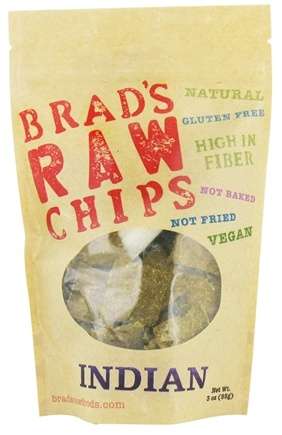 DROPPED: Brad's Raw Foods - Vegan Chips Indian - 3 oz. CLEARANCE PRICED