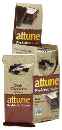 Attune - All Natural Probiotic Bars Dark Chocolate - 7 Bars