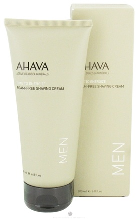 DROPPED: AHAVA - Time To Energize Foam Free Shaving Cream For Men - 6.8 oz. CLEARANCE PRICED