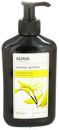 DROPPED: AHAVA - Mineral Botanica Velvet Body Lotion Honeysuckle & Lavender - 13.5 oz. CLEARANCE PRICED