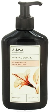 DROPPED: AHAVA - Mineral Botanica Velvet Body Lotion Hibiscus & Fig - 13.5 oz. CLEARANCE PRICED