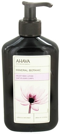 DROPPED: AHAVA - Mineral Botanic Velvet Body Lotion Lotus & Chestnut - 13.5 oz. CLEARANCE PRICED