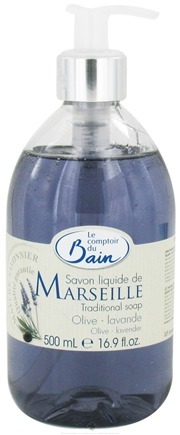 DROPPED: Le Comptoir du Bain - Traditional French Liquid Soap Olive Lavender - 16.9 oz. CLEARANCE PRICED
