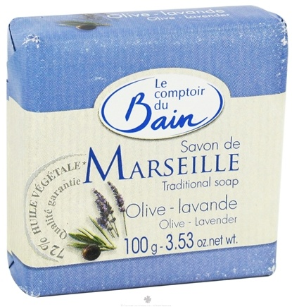 DROPPED: Le Comptoir du Bain - Traditional French Soap Olive Lavender - 3.53 oz. CLEARANCE PRICED