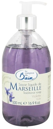 DROPPED: Le Comptoir du Bain - Traditional French Liquid Soap Violet - 16.9 oz. CLEARANCE PRICED