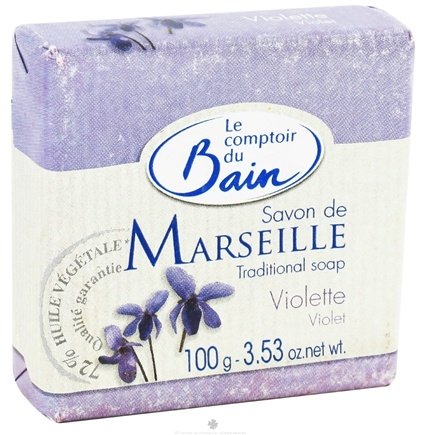 DROPPED: Le Comptoir du Bain - Traditional French Soap Violet - 3.53 oz. CLEARANCE PRICED
