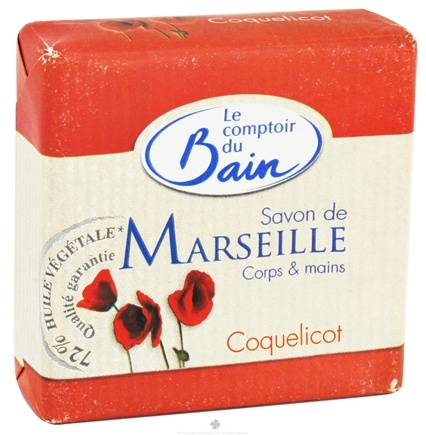 DROPPED: Le Comptoir du Bain - Traditional French Soap Poppy - 3.53 oz. CLEARANCE PRICED