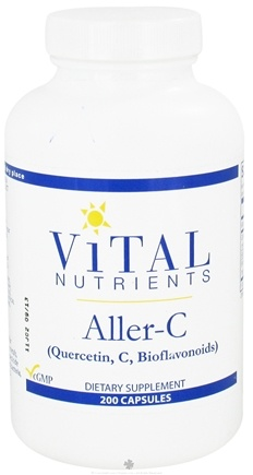 DROPPED: Vital Nutrients - Aller-C Quercetin, C and Bioflavonoids - 200 Capsules CLEARANCE PRICED