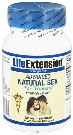 DROPPED: Life Extension - Advanced Natural Sex For Women - 60 Vegetarian Capsules