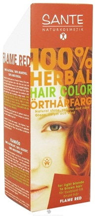 DROPPED: Sante - 100% Herbal Hair Color Flame Red - 3.5 oz. CLEARANCE PRICED