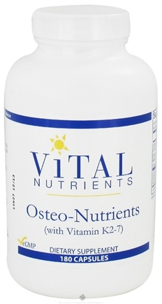 DROPPED: Vital Nutrients - Osteo-Nutrients with Vitamin K2-7 - 180 Capsules CLEARANCE PRICED