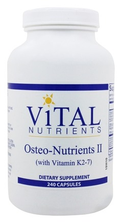 Vital Nutrients - Osteo-Nutrients II with Vitamin K2-7 - 240 Capsules