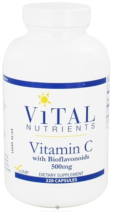 DROPPED: Vital Nutrients - Vitamin C with Bioflavonoids 500 mg. - 220 Capsules