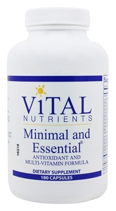 Vital Nutrients - Minimal and Essential Antioxidant and Multi-Vitamin Formula - 180 Capsules