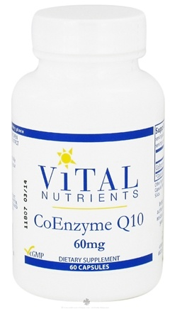 DROPPED: Vital Nutrients - CoEnzyme Q10 60 mg. - 60 Capsules CLEARANCE PRICED