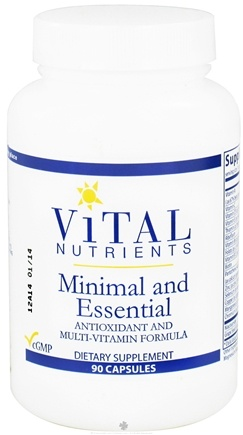DROPPED: Vital Nutrients - Minimal and Essential Antioxidant and Multi-Vitamin Formula - 90 Capsules