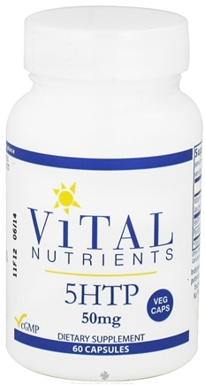 DROPPED: Vital Nutrients - 5-HTP 50 mg. - 60 Vegetarian Capsules CLEARANCE PRICED