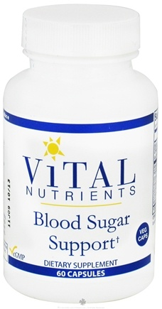 DROPPED: Vital Nutrients - Blood Sugar Support - 60 Vegetarian Capsules
