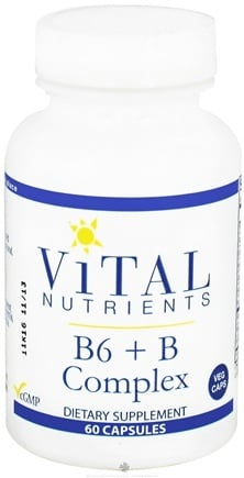 DROPPED: Vital Nutrients - B6 + B Complex - 60 Vegetarian Capsules