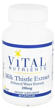 DROPPED: Vital Nutrients - Milk Thistle Extract 250 mg. - 60 Capsules