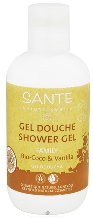 DROPPED: Sante - Family Shower Gel Organic Coconut & Vanilla - 6.8 oz. CLEARANCE PRICED