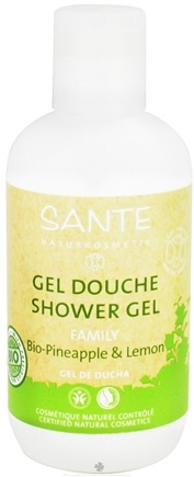 DROPPED: Sante - Family Shower Gel Organic Pineapple & Lemon - 6.8 oz.