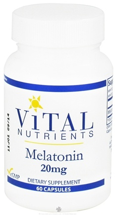 DROPPED: Vital Nutrients - Melatonin 20 mg. - 60 Capsules CLEARANCE PRICED