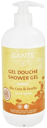 DROPPED: Sante - Family Shower Gel Organic Coconut & Vanilla - 16.9 oz. CLEARANCE PRICED
