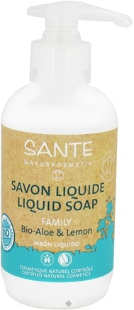 DROPPED: Sante - Family Liquid Soap Organic Aloe & Lemon - 6.8 oz. CLEARANCE PRICED
