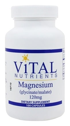 Vital Nutrients - Magnesium Glycinate/Malate 120 mg. - 100 Capsules