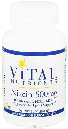 DROPPED: Vital Nutrients - Niacin 500 mg. - 90 Tablets