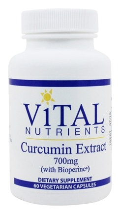 Vital Nutrients - Curcumin Extract with BioPerine 750 mg. - 60 Vegetarian Capsules