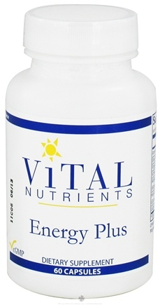 DROPPED: Vital Nutrients - Energy Plus - 60 Capsules CLEARANCE PRICED