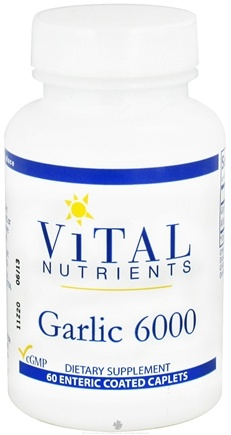 DROPPED: Vital Nutrients - Garlic 6000 - 60 Caplets CLEARANCE PRICED