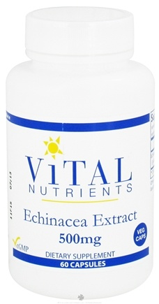 DROPPED: Vital Nutrients - Echinacea Extract 500 mg. - 60 Vegetarian Capsules CLEARANCE PRICED