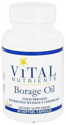 DROPPED: Vital Nutrients - Borage Oil 1000 mg. - 60 Softgels CLEARANCE PRICED