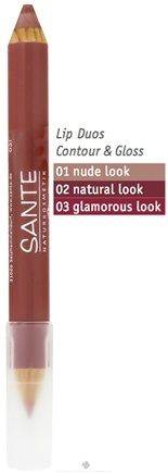 DROPPED: Sante - Lip Duo Contour & Gloss 01 Nude Look - 4 Grams CLEARANCE PRICED