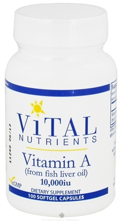 DROPPED: Vital Nutrients - Vitamin A from Fish Liver Oil 10000 IU - 100 Softgels CLEARANCE PRICED