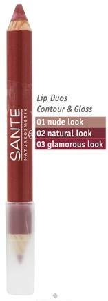 DROPPED: Sante - Lip Duo Contour & Gloss 02 Natural Look - 4 Grams CLEARANCE PRICED