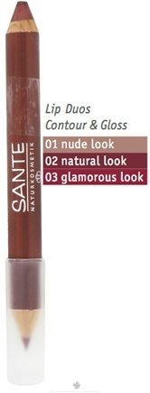 DROPPED: Sante - Lip Duo Contour & Gloss 03 Glamorous Look - 4 Grams CLEARANCE PRICED