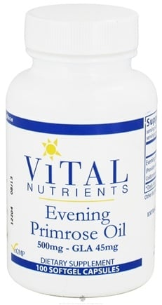DROPPED: Vital Nutrients - Evening Primrose Oil with GLA 500 mg. - 100 Softgels CLEARANCE PRICED