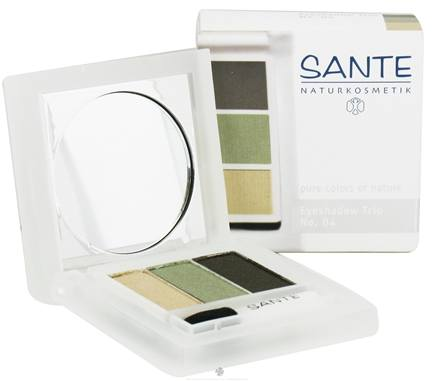 DROPPED: Sante - Eyeshadow Trio 04 Natural Green - 4.5 Grams CLEARANCE PRICED