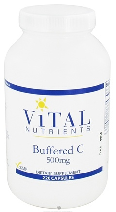 DROPPED: Vital Nutrients - Buffered C 500 mg. - 220 Capsules CLEARANCE PRICED