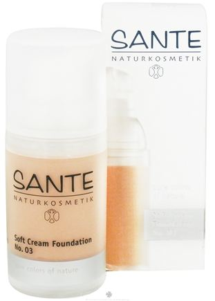 DROPPED: Sante - Soft Cream Foundation 03 Sunny Beige - 30 ml. CLEARANCE PRICED