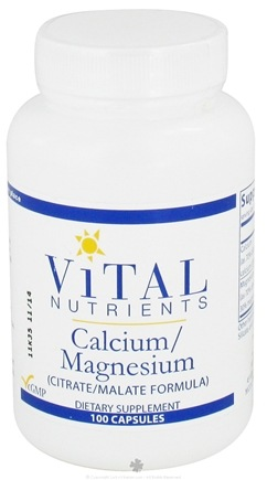 DROPPED: Vital Nutrients - Calcium Magnesium Citrate/Malate Formula - 100 Capsules CLEARANCE PRICED