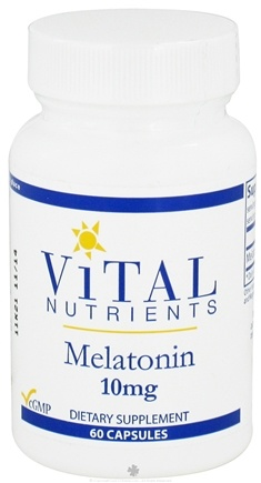 DROPPED: Vital Nutrients - Melatonin 10 mg. - 60 Capsules
