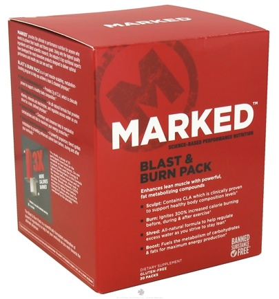 DROPPED: Marked Nutrition - Blast & Burn Pack - 30 Pack(s)