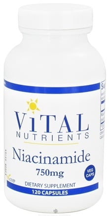 DROPPED: Vital Nutrients - Niacinamide 750 mg. - 120 Vegetarian Capsules