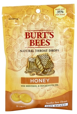 Burt's Bees - Natural Throat Drops Honey - 20 Count